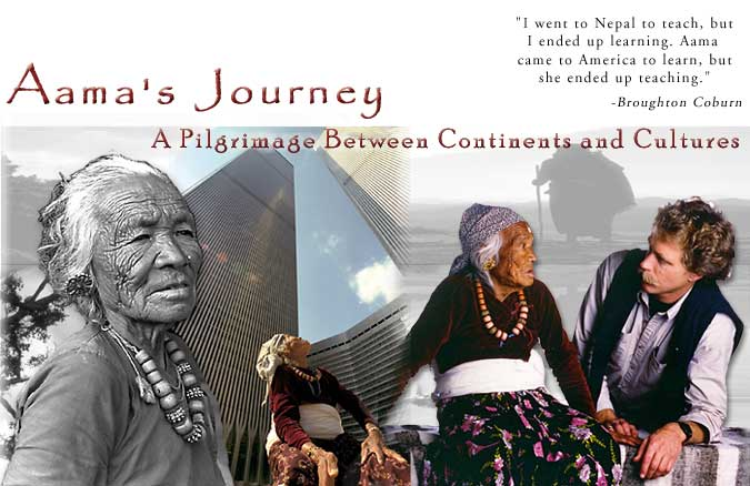 Aama's Journey by Nepal RPCV Broughton Coburn is a Pilgrimage Between Continents and Cultures is a touching pictorial excursion