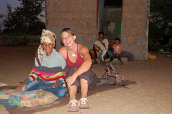 April Lipinski served as a Peace Corps Volunteer in Botswana working with Bushmen