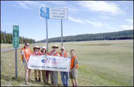 Northern Arizona Peace Corps Volunteers have adopted a two-mile segment of AZ 67 on the Kaibab Plateau