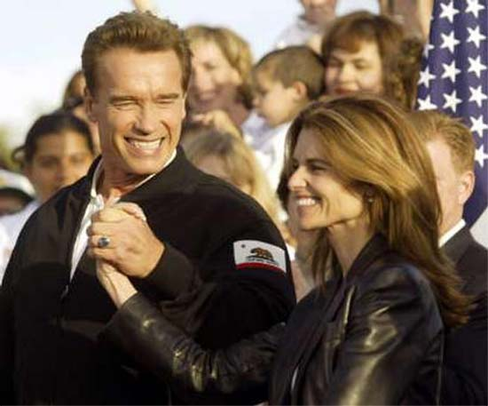 In Schwarzenegger's administration, Maria Shriver's fingerprints are everywhere, from the Impressionist landscapes that hang in his suite of offices, to the content of his speeches, to the people he hires, to his position on issues like stem-cell research and hybrid cars