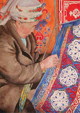 Four weeks after Kathy Davies returned from Mongolia, she and her mother are ready to expose the public to the nomadic lifestyle maintained by hundreds of thousands of Mongolian people in an exhibit of watercolors, photography, and folk art at the Bridge Gallery in Colorado Springs