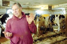 At age 65 and with two artificial knees, Ecuador RPCV Barry Chase, like so many before him, is leaving the dairy business
