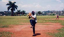 Baseball, introduced to Nigeria by U.S. Peace Corps volunteers in the 1960s, went into abeyance after their departure until the game was revived in 1989