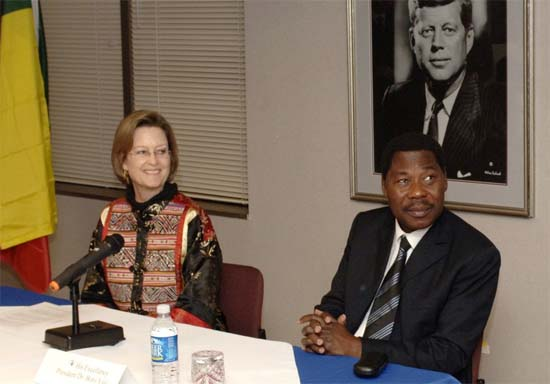 President Dr. Thomas Boni Yayi  of Benin Visits Peace Corps Headquarters