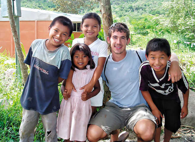 For Ben Simms, volunteering in the Peace Corps in Costa Rica has been a slam dunk