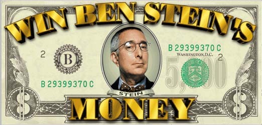 Ben Stein writes a check to the Peace Corps Partnership