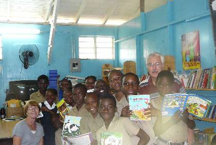 Gail and Bill Frasier help establish library as Peace Corps volunteers in Jamaica