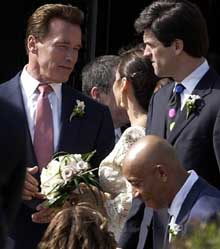 It was Camelot on the West Coast as the Kennedy clan converged in Los Angeles for the wedding of Bobby Shriver, the nephew of JFK and brother of California First Lady Maria Shriver.