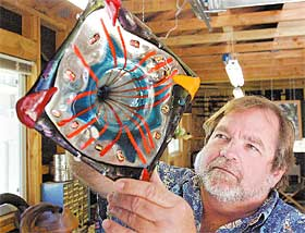Jamaica RPCV Bob Nabours is Glass artist