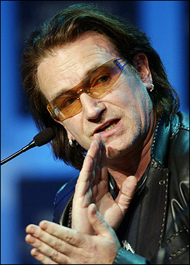 Bono, Gates say rich leaders carry hopes of generation for Africa