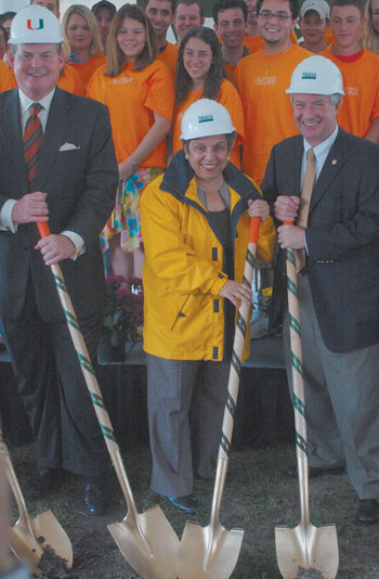 Donna Shalala breaks ground on University Village