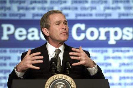 Al Kamen writes:  Words fail Bush