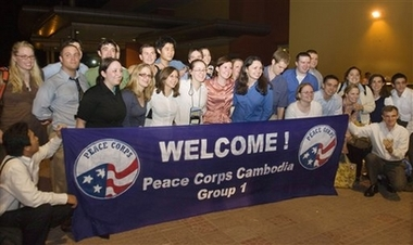 First Group of Peace Corps Volunteers arrive in Cambodia