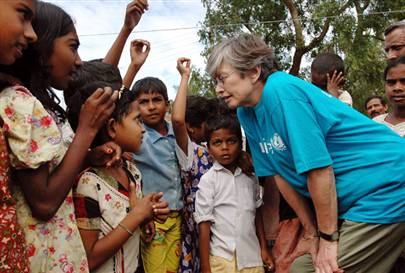 PBS speaks with a Unesco Head Carol Bellamy who recently toured the regions hit by the tsunami