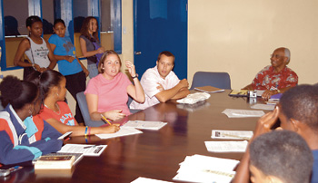 Members of United States Peace Corps visited TEENage to speak about the work the organisation is doing in Jamaica