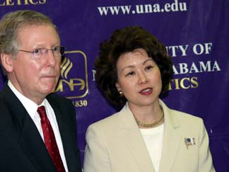 Chao and McConnell are Washington's Number One Power Couple