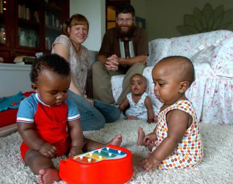 Central African Republic RPCV Cindy Cox and her husband adopt triplets from Ethiopia