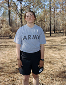 Benin RPCV Claire Beckett presents three portraits of young, female army recruits training for the war in Iraq