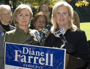 Hillary Clinton stumps for Shays' opponent