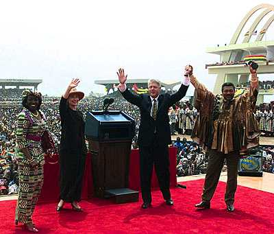 Here is an article I wrote detailing President Clintons historic trip to Africa by Peace Corps Volunteer Leader James Houle