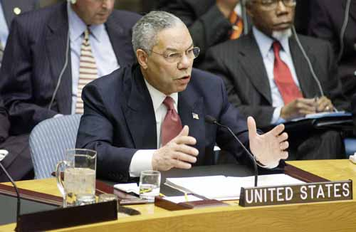 I want to thank everybody in the department, Colin Powell said, whether you're Foreign Service, civil service, Foreign Service National or all the components thereof, whether you are here in the department, whether you're the Peace Corps and all the other organizations that flow into the State Department family. I thank you from the bottom of my heart.