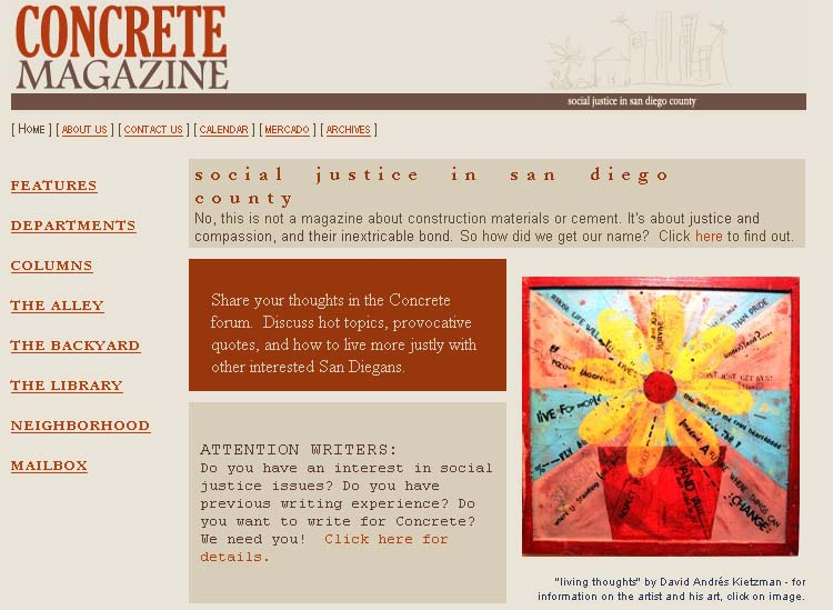 Zimbabwe RPCV  Jessica Petrencsik created Concrete Magazine, an online compilation of articles, artwork, book reviews and calendar events aimed at social causes