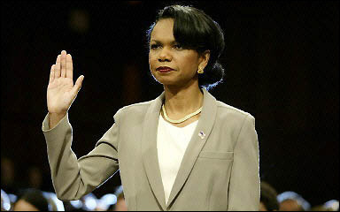 An RPCV member of Families of September 11 comments on Condoleeza Rice's testimony before the 9/11 Commission