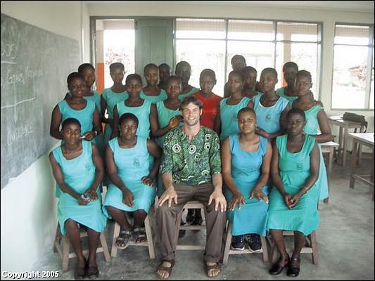 Curtis Saueressig was sent to Ghana about 18 months ago by the Peace Corps to make a difference in people's lives as a high school teacher