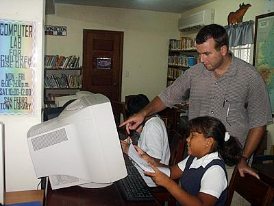 Peace Corps Volunteers Rick and Stephanie Dalton announced the first graduating class of their Children's Computer Course.
