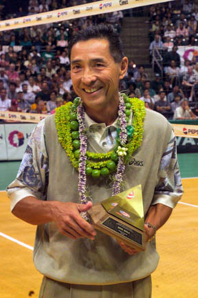 Nigeria RPCV Dave Shoji will coach his 1,000th match tomorrow when Hawaii takes on Pepperdine