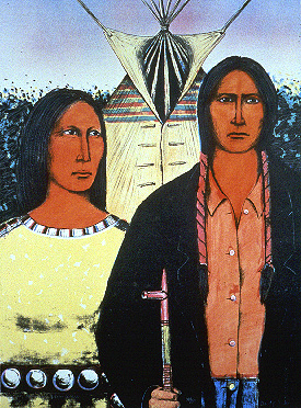 American Indian Gothic by RPCV David Bradley