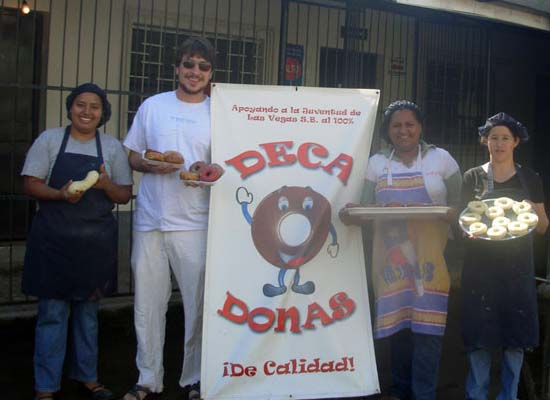 Peace Corps Volunteer Sidney Slover helped start a donut production and distribution company to raise money for youth projects in Honduras
