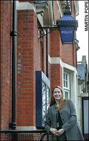 The most important part of her job is helping borough police commanders find full-time volunteer managers like Diane Dodd, an Anglo-American appointed to Haringey in June. A graduate of Indiana University and former Peace Corps leader in Bulgaria, the tall, fair-haired 26-year-old is an inspiration.
