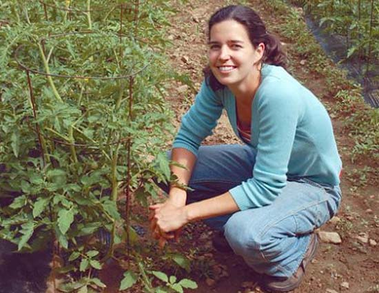 Philippines RPCV Dina Brewster raises crops organically at the Lounsbury Road farm
