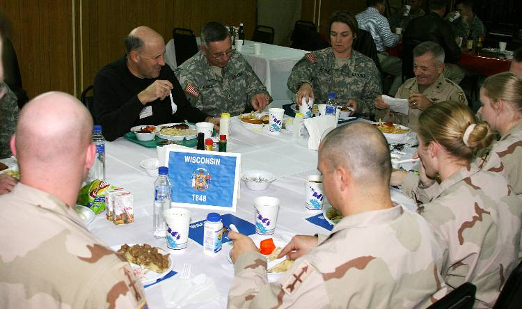 Doyle visits troops in Iraq