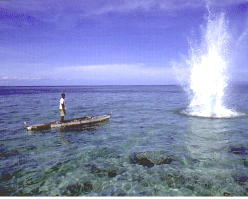 "Phillipines RPCV Tommy Schultz writes: Although many people call it dynamite ""fishing"", reef bombing is really closer to the truth"