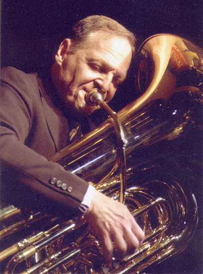 Burkina Faso RPCV Eli Newberger played tuba as a founding member of the Black Eagle Jazz Band