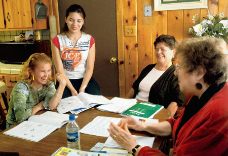 Hispanics are  participating in the English as a second language in-home program created by a 73-year-old Florence Phillips who learned Spanish in her 50s and Swahili in her late 60s as a Peace Corps volunteer