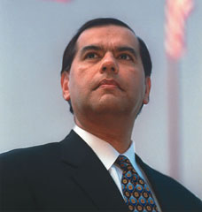 Los Angeles Times says: Gaddi H. Vasquez stepped down as Orange County supervisor in 1995, 15 months early, before the grand jury took action on his colleagues. He became a Southern California Edison executive and eventually resurrected his political career by being confirmed in January 2002 to head the Peace Corps; he recently left that post.