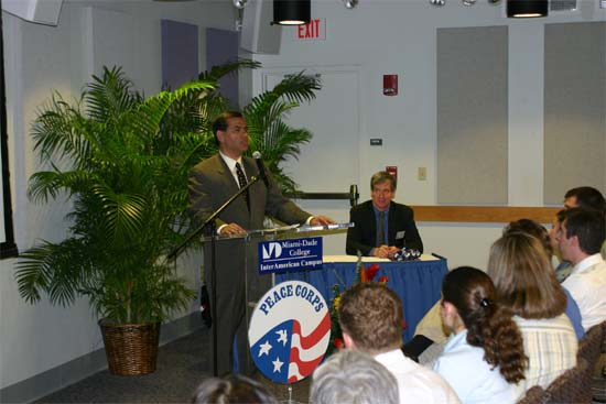 We were able to attend the NPCA Board Meeting in Miami in 2003 representing the Maryland Returned Volunteers and had the opportunity to see Gaddi Vasquez and Kevin Quigley speak to volunteers who were heading to Haiti.  This is the meeting where the Maryland Returned Volunteers were honored to have the NPCA  ask the group to consider hosting the Peace Corps&#39; National Convention in 2006. After long and careful consideration, the group decided against taking on a task this large by itself. <BR>