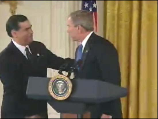 Gaddi Vasquez introduces President Bush