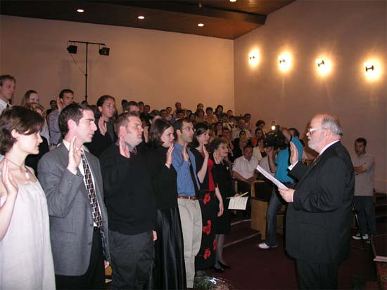 Ambassador Miles Swears In New Peace Corps Volunteers in Georgia