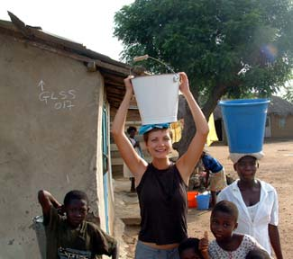Ghana RPCV Jamie Rhein writes When I was in the Peace Corps, I could take two or three decent baths with one regular size bucket of water