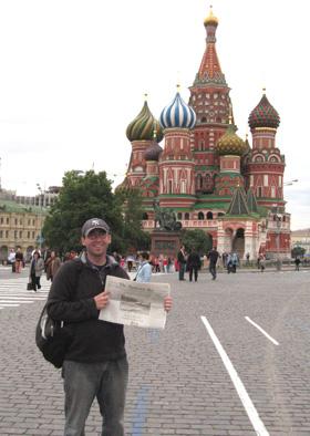 Greg Higgins returns after Peace Corps service In  Ukraine