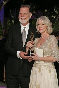 When I jokingly asked director Taylor Hackford if his wife's best actress win for The Queen now means he, like Britain's Prince Philip, will have to walk two steps behind his wife, Hackford harrumphed (very Philip-like, I thought), Hardly! Not in my house!