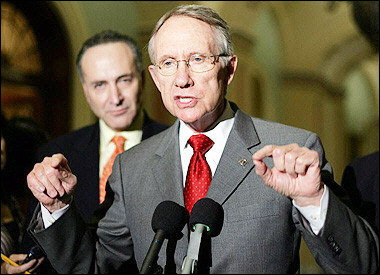 Senate Minority Leader Harry Reid says Bush out to ruin Peace Corps