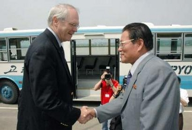 In Surprise Move, US Envoy Christopher R. Hill Visits North Korea