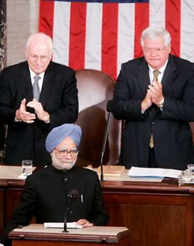 Robert Blackwill says the visit of Indian Prime Minister Manmohan Singh and the pact he signed with US President George W. Bush is a historic breakthrough