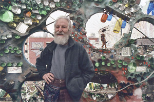 The entrance to the Painted Bride is surrounded by a roof-high mosaic created by Philadelphia artist Isaiah Zagar