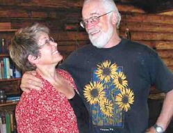 Husband and wife Woody Starkweather and Janet Givens are about to join the Peace Corps to live in Kazakhstan